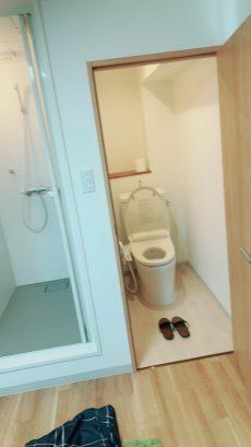 単身者用ワンルームマンション-シャワー